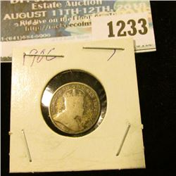 1233 _ 1906 Canada 5 Cent Silver.