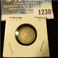 1238 _ 1919 Canada 5 Cent Silver.