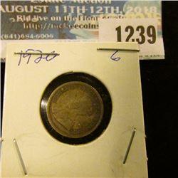 1239 _ 1920 Canada 5 Cent Silver.