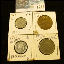 1246 _ 1990 Russia 5 Kopeks, 1997 Spain 5 Pesetas, 1968 Switzerland 1/2 Franc & 1950 Yougoslavia 50
