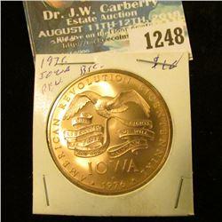 1248 _ 1976 Iowa Revolution Bicentennial Bronze Medal. BU.
