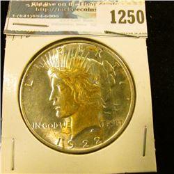1250 _ 1922 Peace Dollar. BU.
