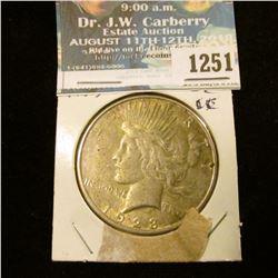 1251 _ 1923 S Peace Dollar.