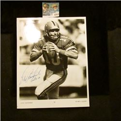1253 _ Autographed Photo of Steve Bartkowski of the Atlanta Falcons.