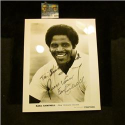 1254 _ Autographed Photo of Earl Campbell of the New Orleans Saints.