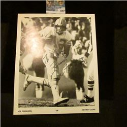 1260 _ Autographed Photo of Joe Ferguson Quarterback of the Detroit Lions.