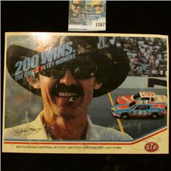1267 _ Autographed Photo of Richard Petty, 200th Grand National Victory Daytona Firecracker 500 in J