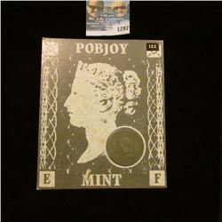 1297 _ 1990 Isle of Man, 1Crown Commemorating 150th Aniversary of Penny Black Stamp, As Issued by Th