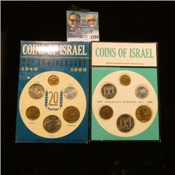 1299 _ 1967 & 1968 Israel Mint Sets. Original as Issued.
