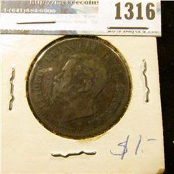 1316 _ 1863 Italy, 10 Centesimi.