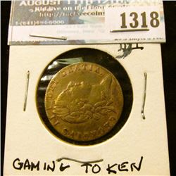 1318 _ 1790 George III Guinea, Brass Spiel Mark Gaming Token.