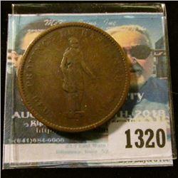 1320 _ 1837 Canada Penny Bank Token.