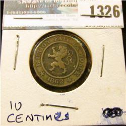 1326 _ 1862 Belgium, 10 Centimes.