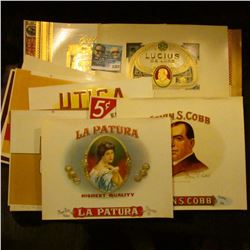 1372 _ (17) Old Cigar Box Lables.