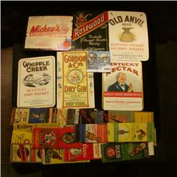 1400 _ (21) Beer Related Matchbooks & (6) Whisky Bottle Lables.