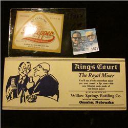 1401 _ Kings Court The Royal Mixer, Willow Springs Bottling Co., Omaha Nebraska Ink Blotter and Dr.
