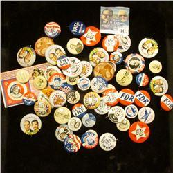 1411 _ (69) Political Pins. Modern Copies.
