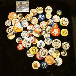 1412 _ (62) Political Pins. Modern Copies.