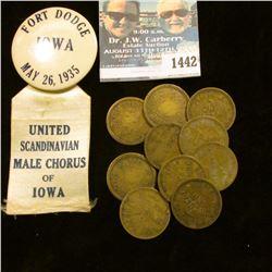 """1442 _ """"Fort Dodge/Iowa/May 26, 1935/United/Scandinavian/Male Chorus/of/Iowa"""";  & (10) No comma vari"""