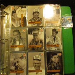 1491 _ Three-ring notebook with numerous racing car related cards and a signed letter from Stirling
