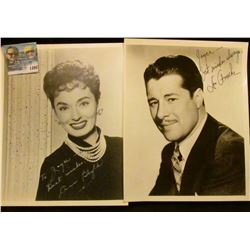 1498 _ Autographed black and white photos of Don Ameche & Ann Blyth