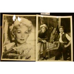 1499 _ Autographed black and white photos of Ann Sothern & Howard (Duff) & Ida (Lupino) (Western fil