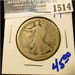 1514 _ Better Date 1916 P Walking Liberty Half Dollar