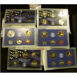 1520 _ 2000, 2001, And 2007 Proof Sets.  The 2007 Set Is Missing The Presidential Dollars