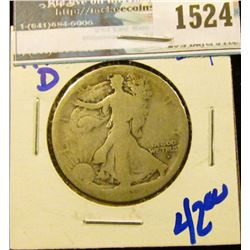 1524 _ 1916-D Better Date Walking Liberty Half Dollar