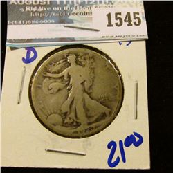 1545 _ 1920-D Early Date Walking Liberty Half Dollar