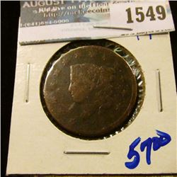 1549 _ 1820 Early Date Coronet Head Large Cent