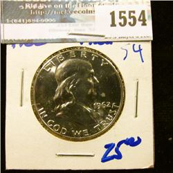 1554 _ 1962 Proof Franklin Half Dollar