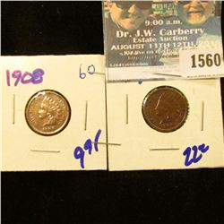 1560 _ 1908 And 1909 Indian Head Cents