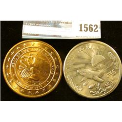 1562 _ 2006 Maui Trade Dollar And Illinois Sesquicentennial Medal