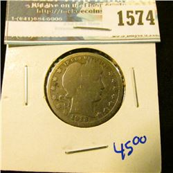 1574 _ 1913 Semi Key Date Barber Quarter