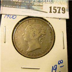 1579 _ Newfoundland 1900 Silver Half Dollar