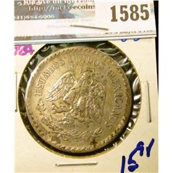 1585 _ Mexico 1924 Silver One Peso Coin