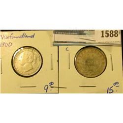 1588 _ Newfoundland 1900 And 1917-C And 1917-C Quarters