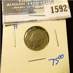 1592 _ Better Date 1890-H Canadian Silver Dime