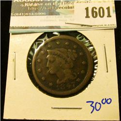 1601 _ 1847 Braided Hair Large Cent
