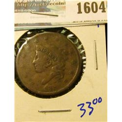 1604 _ 1828 Coronet Head Large Cent