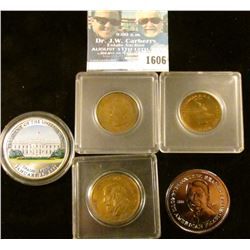 1606 _ Exonumia And Coin Lot Includes Calvin Coolidge Token, General Robert E Lee Token, Ronald Reag