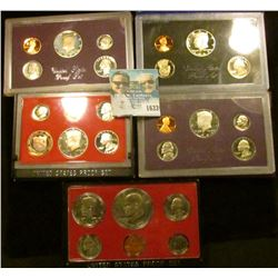1633 _ 1976, 1982, 1983, 1987, And 1989 Proof Sets