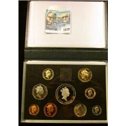 1639 _ 1996 British Proof Set Includes A 5 Crown Coin With Queen Elizabeth On The Front And Two Poun
