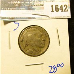 1642 _ 1931-S Semi Key Date Buffalo Nickel