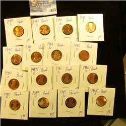 1655 _ Proof Memorial Cent Lot