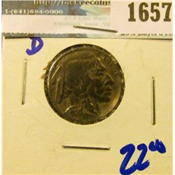 1657 _ 1924-D Buffalo Nickel