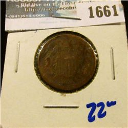 1661 _ 1865 Two Cent Piece