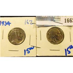 1662 _ 1934 And 1936 Buffalo Nickels