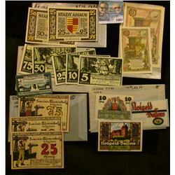 "1665 _ German Notgeld ""Emergeny Money"" Notes From The 1920's"